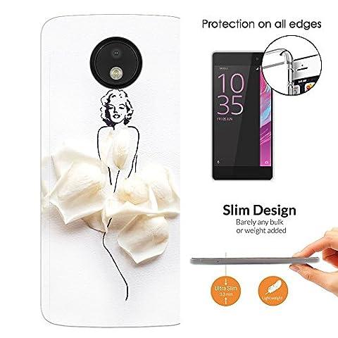 003712 - Rose Petals Woman Design Motorola Moto G4 / G4 Plus Fashion Trend Leichtgewicht Hülle Ultra Slim 0.3MM Kunststoff Kanten und Rückseite Protection Hülle - Clear