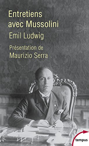 Entretiens avec Mussolini