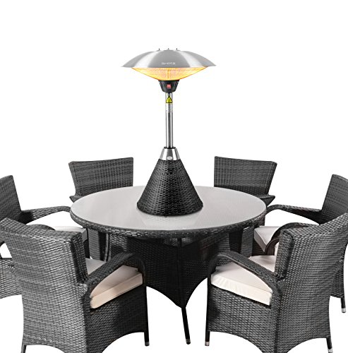 Firefly 2.1kW Table-Top Infrared Patio Heater with Black Rattan Base ...