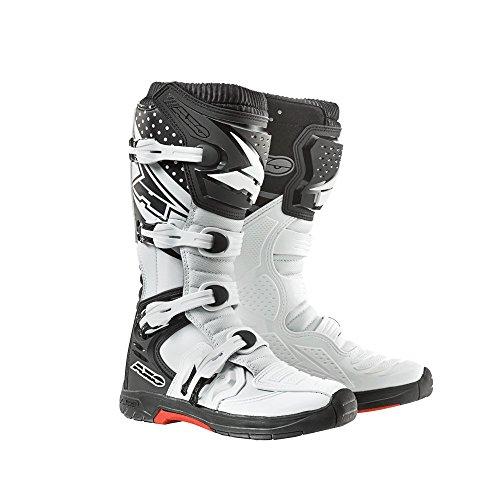 AXO Stivali da Moto MX One, 44, Bianco/Nero