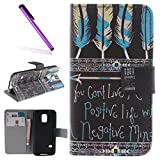 Samsung Galaxy S5 Mini Fall, samsung galaxy s5 mini Cover, Flip Case für Samsung Galaxy S5 Mini, Wallet Schutzhülle für Samsung Galaxy S5 Mini, emaxelers Beautiful Painted Muster PU Leder Wallet Flip Magnetic Schutzhülle mit Stand Magnetverschluss integrierte Kreditkarte Slot Elegante Rose Blume Blau Taube Design Flip Case Cover Für Samsung Galaxy S5 Mini (G800 G800) mit 1 x Eingabestift