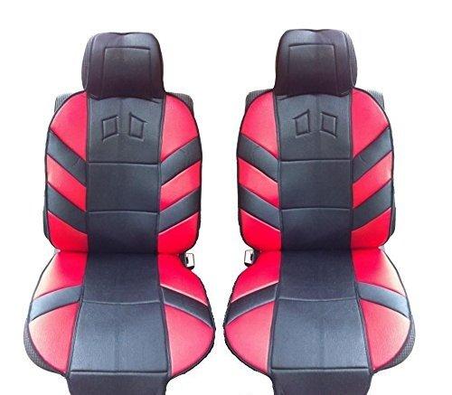 2x vordere Sitzaufleger Sitzauflagen Schwarz Rot Satz Autositz Schutz Hochwertig Neu OVP