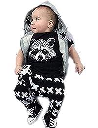 para la ropa del bebé,RETUROM fresco recién nacidos para niños Niños bebés Trajes camiseta tops + Pants juego de ropa