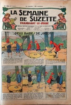 SEMAINE DE SUZETTE (LA) [No 23] du 05/05/1932 - DEUX PAIRES DE SABOTS - BECASSINE AUX BAINS DE MER