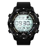 OOLIFENG GPS Orologi intelligenti - IP67 impermeabile, Orologio sportivo da esterno, Bussola, Previsioni del tempo Altimetro, per iOS iPhone Android e Escursionismo , black