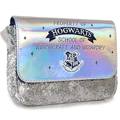 Harry Potter Borsa, Borsa Bambina A Tracolla, Borse Per Bambini Con Glitter Argento E Design Olografico, Borsetta Per Bambine Grifondoro, Regali Per Ragazze Di 5 6 7 8 9 10 11 12 13 14 A