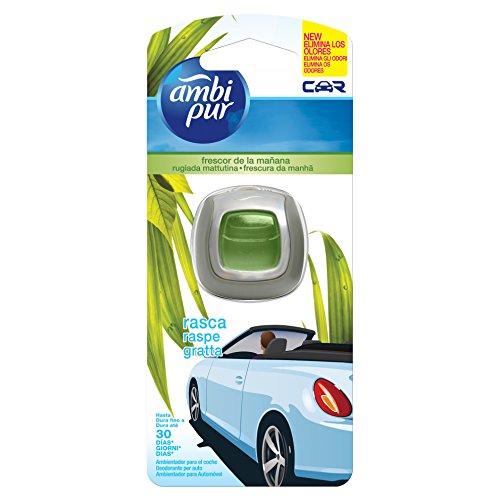 Ambi Pur Car Deodorante per Auto con Clip, Rugiada Mattutina, 2 ml