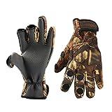 Todaytop Winter Angler Handschuhe Fahrradhandschuhe Herren Anti-Rutsch Handschuhe Wasserdicht Warm Winterhandschuhe Winddicht Thermo Fahrrad Reiten Camping Wandern