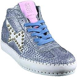 A.S.98 | Airstep | High Top Sneaker - blau | mirtillo , Farbe:grau;Größe:37