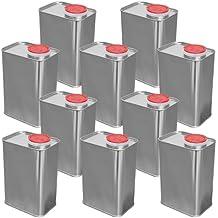 Lata, Bidón metálico 1 L (10 piezas) cuadrado (10x23004)