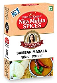 Kitchen Queen Nita Mehta Sambar Masala 50 gm Pack of 2