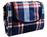 HYSEAS Picknickdecke fleece, Campingdecke mit wasserabweisende , 185,4 cm x 203 cm, blau