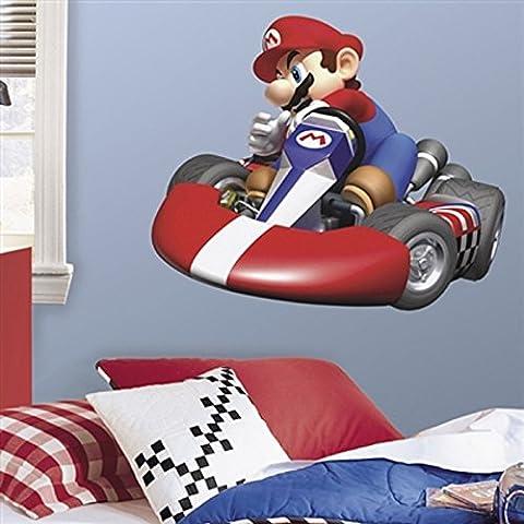Alta calidad pared adhesivo decorativo pared Tattoo Super Mario Kart künstlerisch Amplios con diseño Convierte a la pared un verdadero Llamativa