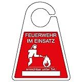 TMS PRO SHOP Schild zum Aufhängen am Rückspiegel (Feuerwehr im Einsatz)