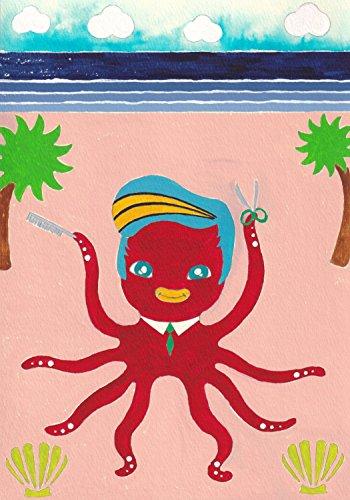 OctopusBeautysalon marineorganism (PictureBook) (Japanese Edition)