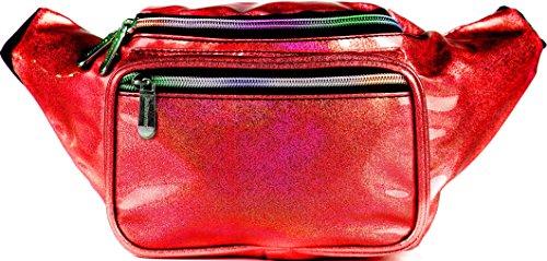 SoJourner Bags riñonera uno tamaño Glitter - Rojo