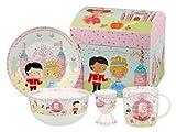 Little Rhymes Churchill China Queens Juego de Desayuno en Caja (4 Piezas), diseño de Cenicienta