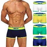 e0c8a549e5d6 JFan Bóxer Hombre Pack of 4 Ropa Interior Hombre Underwear 4 Pack Trunk  Bóxers Ajustados para Hombre (XL)