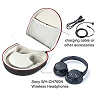 Hard Case for Sony WH-CH700N Wireless Noise Cancelling Headphones, Travel Carrying Storage Bag - Black