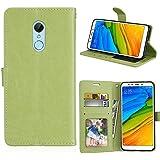 Xiaomi Redmi 5 Case, Xiaomi Redmi 5 Cover Thin Flip Cover Case Shell Cover Phone Case Compatible With Xiaomi Redmi 5 By Codream (Green)
