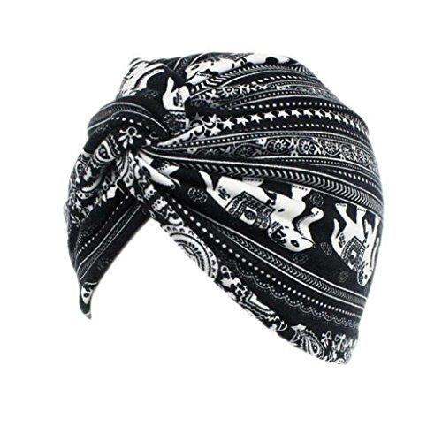 Turban Chimio Femme Bonnet Musulmanes Coton Wrap Hijib Cap a Motifs (E)