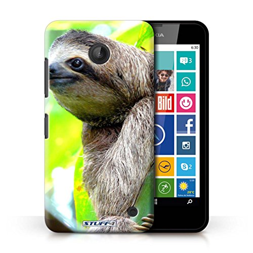Kobalt® Imprimé Etui / Coque pour Nokia Lumia 635 / Paon conception / Série Animaux sauvages Bradype