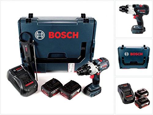 Preisvergleich Produktbild Bosch GSR 18 V-85 C Professional Li-Ion Brushless Akku Bohrschrauber in L-Boxx + 2x GBA 18 V 5,0 Ah Akku + GAL 1880 CV Ladegerät