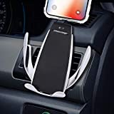LONOSUN Wireless Car Charger, Wireless Car Charger Phone Holder Car Vent Mount Gravity Sensor 360°Rotating Compatible with Galaxy s9/s9+/s8/s8+/S7/s6, Compatible for iPhone 8/8+/X/XS/XS Max/XR