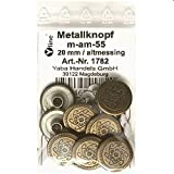 8 Metall Knöpfe altmessing 20 mm