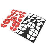 Finest-Folia 4D Carbonfolie Emblem Ecken Aufkleber (Rot Weiß)