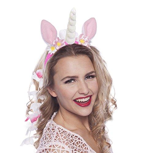 Preisvergleich Produktbild Einhorn Haarreif Tiara Motto-Party Junggesellinnenabschied Girls Night Out mit Palandi® Stcker