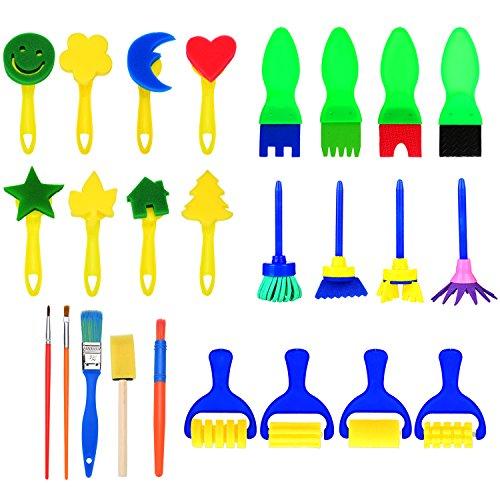 chwamm Malerei Pinsel Set Kinder Früherziehung Zeichnung Werkzeuge für DIY Kunsthandwerk, Formen ()