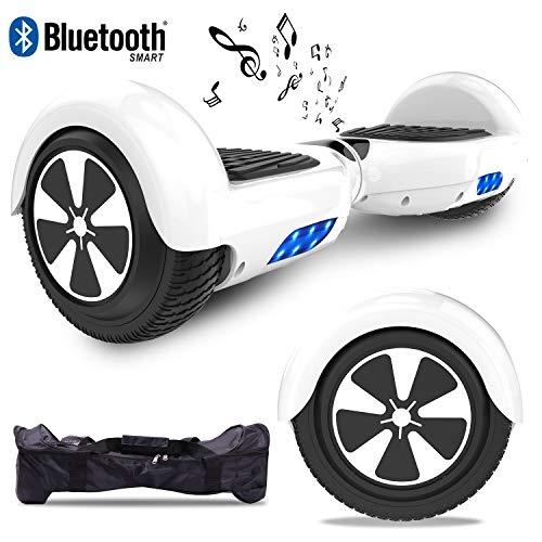 RCB Hoverboard Scooter Elettrico 6.5 inch Auto-bilanciato con luci sulle Ruote Bluetooth per Adulti e BAMB