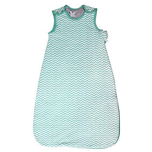 Sacco di sonno per bambini, 100% cotone coperta indossabile bambino ragazzo ragazza sacchi a pelo per bambini bambini infantili che impediscono la trapunta (18-32 mesi (105 cm), strisce verdi)