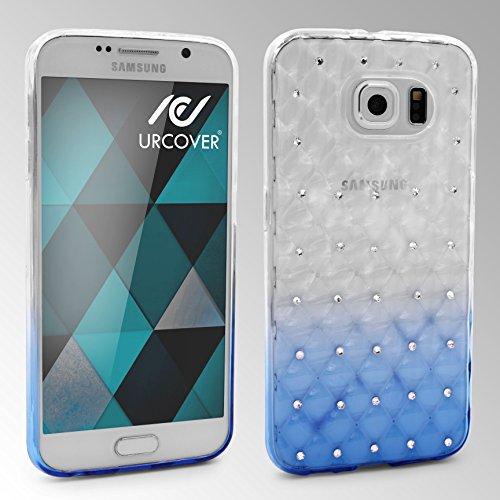 URCOVER Coque Back-case Housse Glittery Diamant pour Apple iPhone 6 Plus / 6s Plus | Étui avec Strass Scintillantes et Pailletté en Silicone TPU Souple in Transparente Bleu