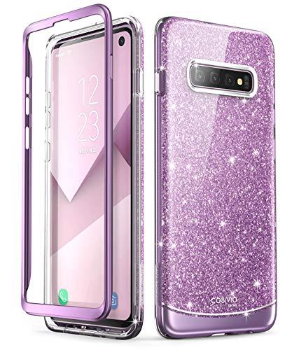 i-Blason Hülle für Samsung Galaxy S10 Handyhülle Glitzer Case Bumper Robust Schutzhülle Glänzend Cover [Cosmo] OHNE Displayschutz 2019 Ausgabe (Lila)