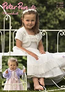 Peter Pan Baby/Children's DK Moondust Bolero Knitting Pattern 1108