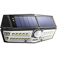 [Version Innovante] Mpow 30 LED Lampe Solaire Etanche IPX6 Détecteur de Mouvement Panneau Solaire Amélioré 1800 mAh Puissante 120° Grand Angle LED Eclairage Solaire Extérieur pour Jardin, Garage, Cour, Maison, Escalier, Patio, Allée