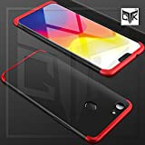 #8: TheGiftKart Full Body 3-In-1 Slim Fit Complete 3D 360 Degree Protection Hybrid Hard Bumper Back Case Cover For Oppo F7 (Black & Red)