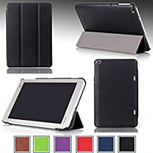 Ultra Slim For TOSHIBA Encore® 2 Write WT8PE-B264 Windows Tablet 8-inch Magnetic closure Luxury QUALITY PU LEATHER PROTECTIVE CASE, COVER, STAND with Hard Shell! BLACK