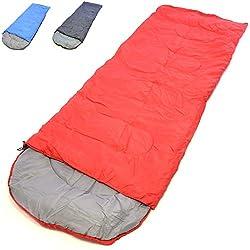 Nexos Schlafsack Hinduka 200x70 cm Kapuze Rot 12-22°C 170T Polyester Füllung 200 g/m² 1 kg Zelten Wandern Decke Kapuze Schlafsackhülle