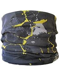Braga para el Cuello, pañuelo de Microfibra multifunción, diseño de mármol Gris y Amarillo