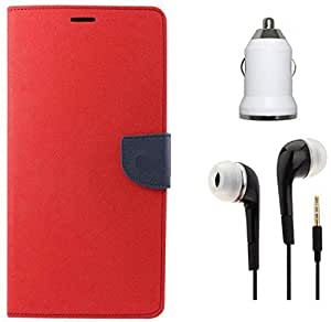 Tidel Premium Table Talk Fancy Diary Wallet Flip Cover Case for Coolpad Note 3 Lite With 3.5mm Earphone & Car Charger Adapter
