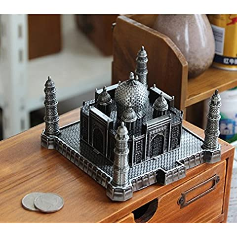 XJoel Indian Souvenir Collectible Handcrafted Taj Mahal Tajmahal Réplica Regalo Artículo Plata