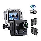 NEXGADGET Action Kamera, 14MP 1080P Wasserdichte Sport Kamera 170 Grad Ultra Weitwinkel-Objektiv mit Zeitraffer und Zeitlupe sowie 2 Stück Wiederaufladbare Batterien
