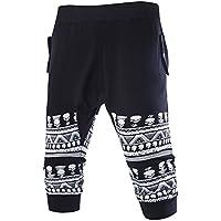6e47253c5131 Highdas Kurze Hose Herren - Shorts Sweatshorts Schädel Haremshosen Mode  Einfarbig Elastische Taille Sporthose mit Taschen