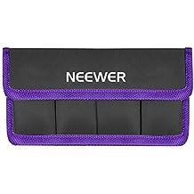 Neewer Funda de Batería de DSLR Soporte de Batería AA y lp-e6 lp-e8 lp-e10 lp-e12 en-el14 en-el15 fw50 f550 y Más, Adecuado para Batería de Nikon D800 Canon 5DMKIII Sony A77 (Púrpura