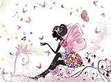 Fototapete Schmetterlingselfe 350cm Breit x 260cm Hoch Vlies Tapete Wandtapete - Tapete - Moderne Wanddeko - Wandbilder - Fotogeschenke - Wand Dekoration wandmotiv24