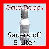 Sauerstoffflasche Gasflasche 5L Sauerstoff gefüllt und fabrikneu von Gase Dopp