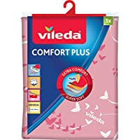 Vileda Comfort Plus Planchar, plástico, Rosa, 137,5X 45,5cm